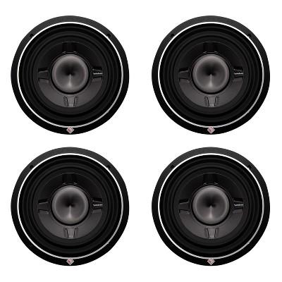 New Rockford Fosgate P3SD4-10 10-inch 600 Watt Car Audio Shallow Mount Subwoofer P3SD410 (4 Pack)