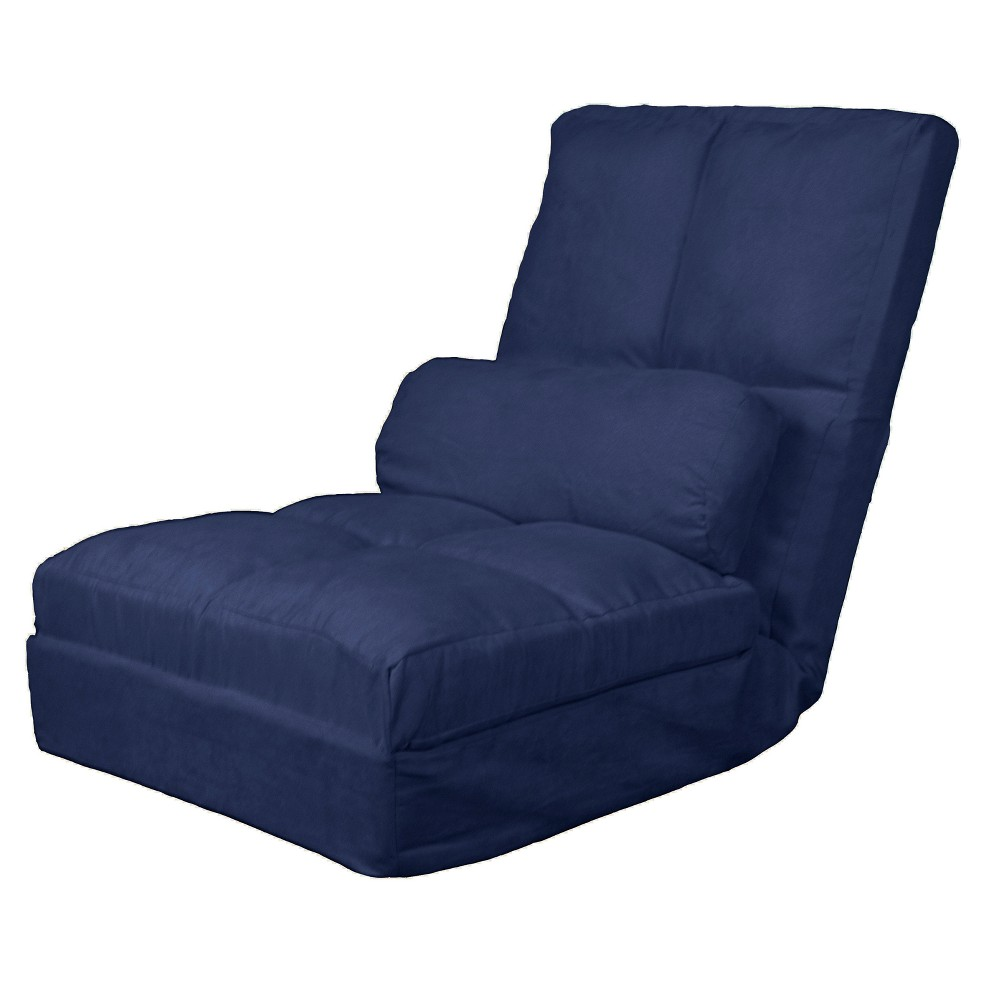 Metro Click Clack Convertible Flip Chair Child-size Sleeper Bed Navy (Blue) - Epic Furnishings