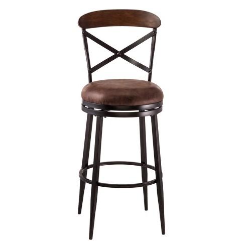 Admirable Henderson Barstool Black Brown Hillsdale Furniture Creativecarmelina Interior Chair Design Creativecarmelinacom