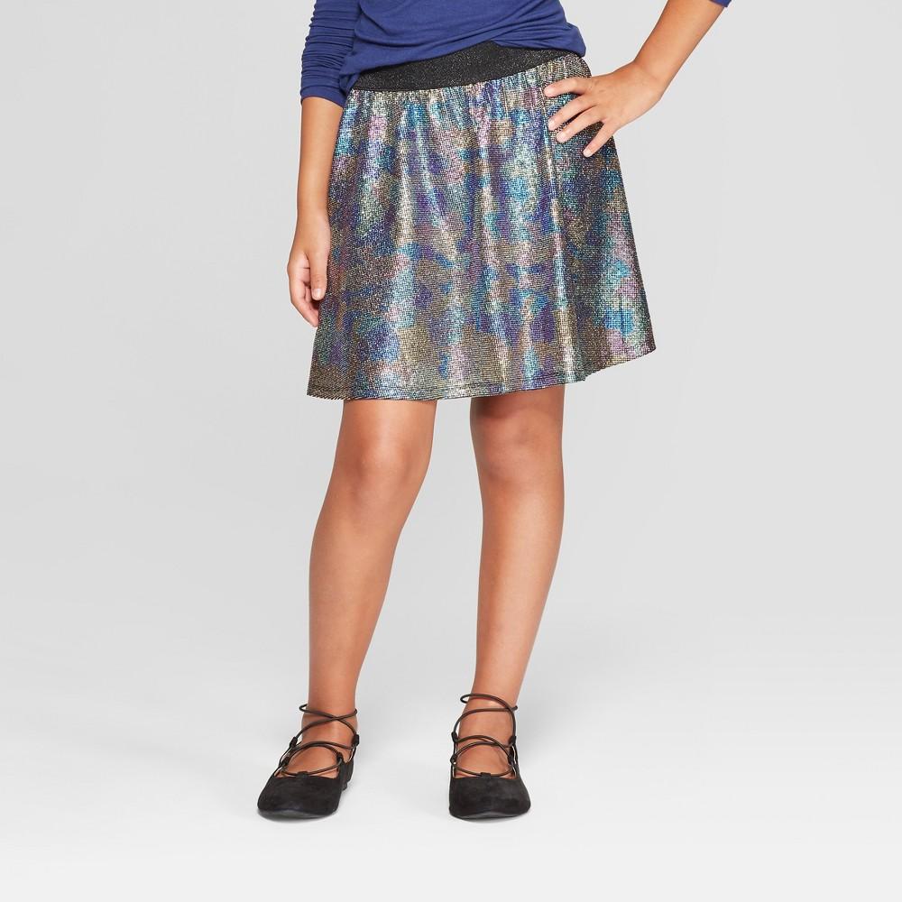 Girls' Foil Skirt - art class XS, Gray
