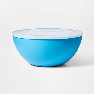 Plastic Serving Bowl with Lid Blue - Sun Squad™