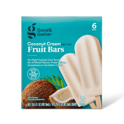 Frozen Coconut Cream Fruit Bars - 16.5oz/6ct - Good & Gather™