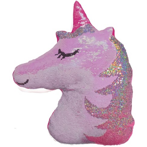 Two Scoops Unicorn Large Reversible Sequin Pillow Target
