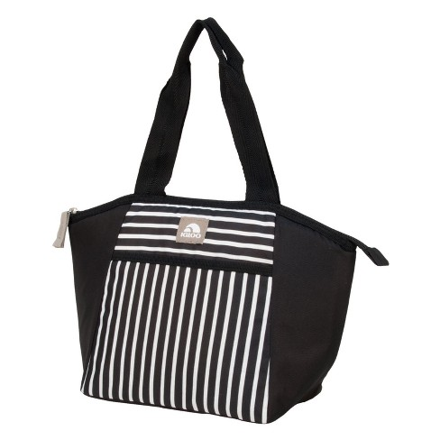 Igloo 8 Can Mini Essential Tote Cooler Lunch Tote - Paneled Stripes - image 1 of 4