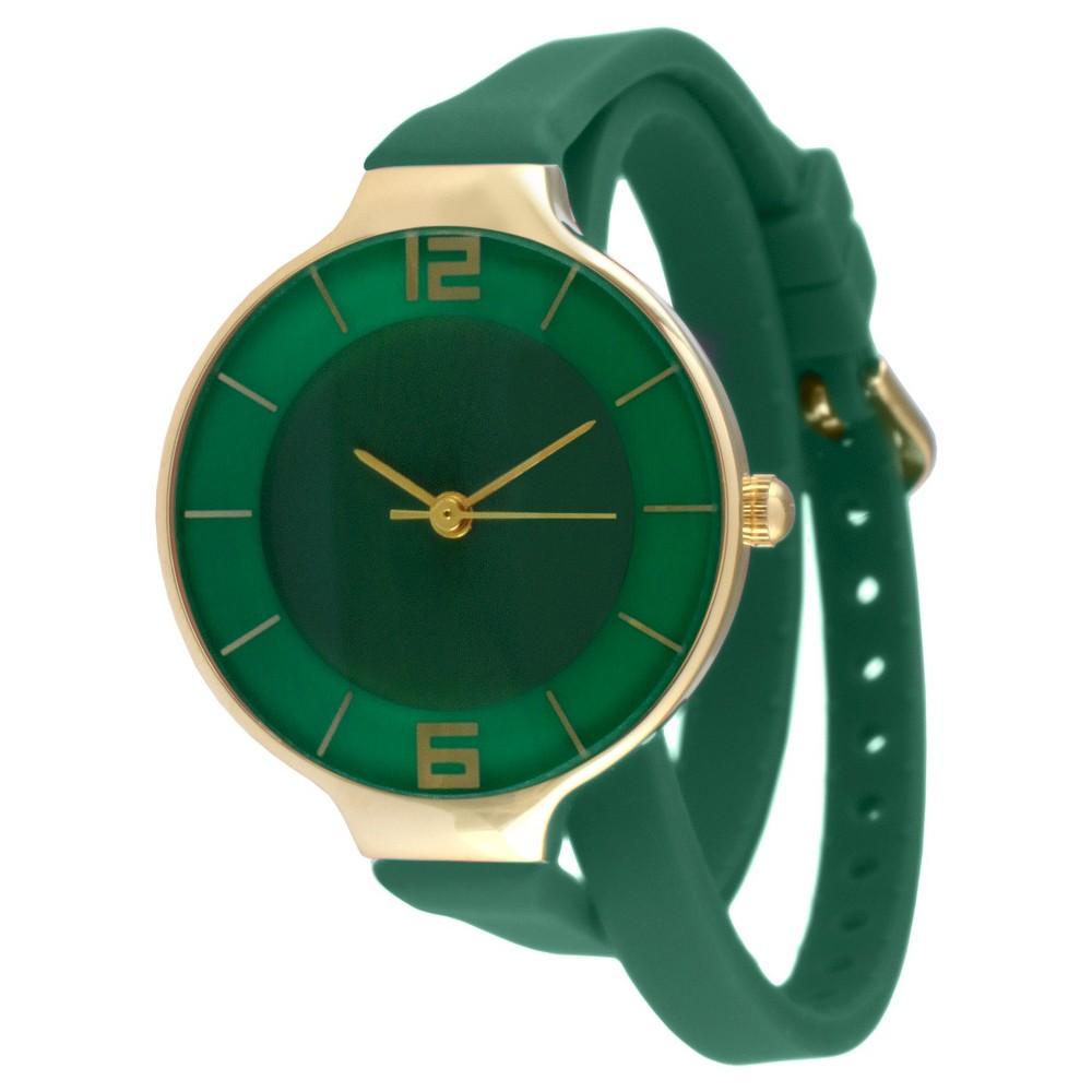 Best Womens TKO Rubber Double Wrap Watch - Green