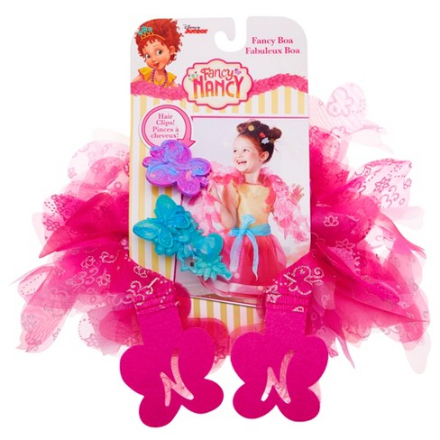 Fancy Nancy Boa & Hair Clips - Pink - image 1 of 6