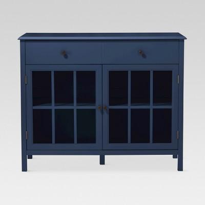 Windham 2 Door Accent Buffet, Cabinet with Shelves - Navy - Threshold™