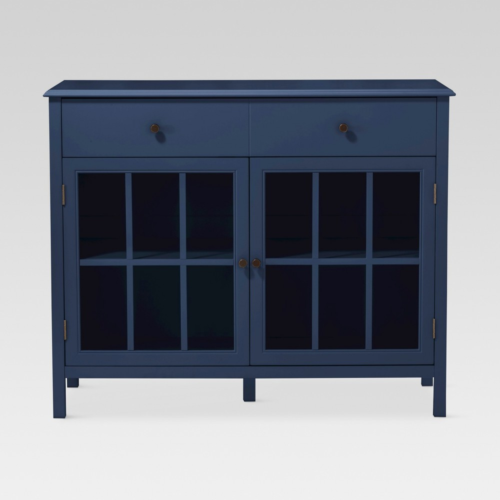 Windham 2 Door Accent Buffet, Cabinet with Shelves - Navy (Blue) - Threshold