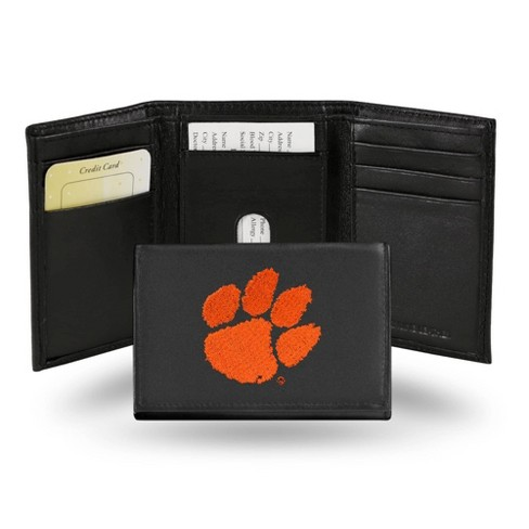 NCAA Clemson Tigers Embroidered Genuine Leather Tri-Fold Wallet - image 1 of 1