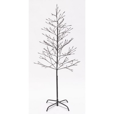 Lakeside White Lighted Twig Tree - Outdoor Christmas Decoration – 5'