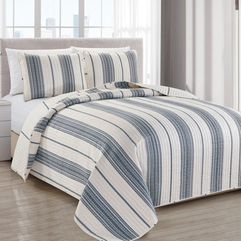 Great Bay Home Wesley Reversible Striped Quilt Set - image 1 of 4