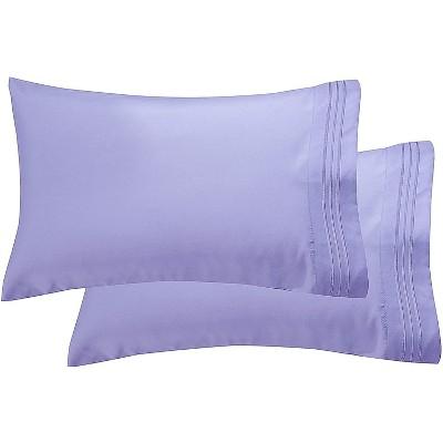 Elegant Comfort Luxury Ultra-Soft 2-Piece Pillowcase Set, 100% Hypoallergenic - Wrinkle Resistant, Standard Size.