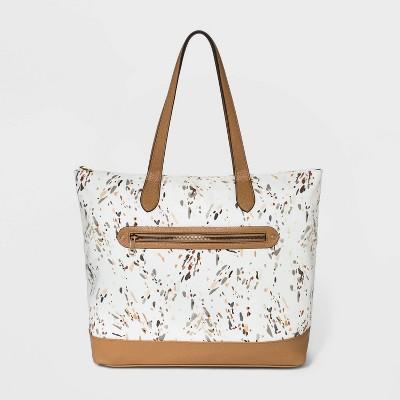Polka Dot Zip Closure Tote Handbag - A New Day™