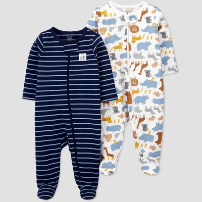 Baby Boys' 2pk Safari Sleep N' Play - Just One You® made by carter's Blue Newborn