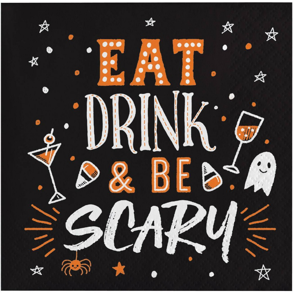 Image of Eat Drink and Be Scary Beverage Napkins