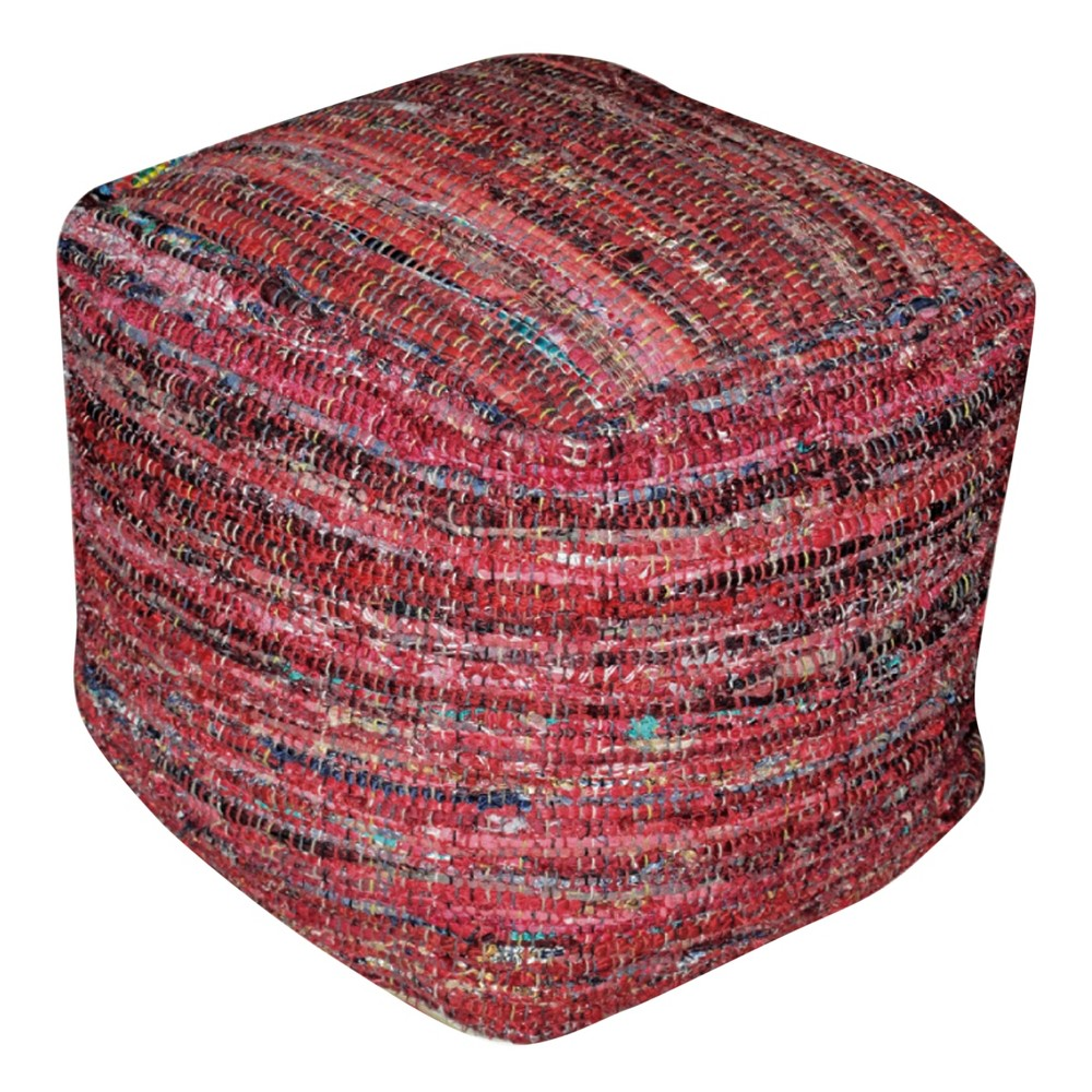Harris Pouf Red - Christopher Knight Home