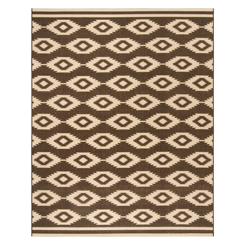 9X12 Geometric Loomed Area Rug Creme/Brown - Safavieh Reviews
