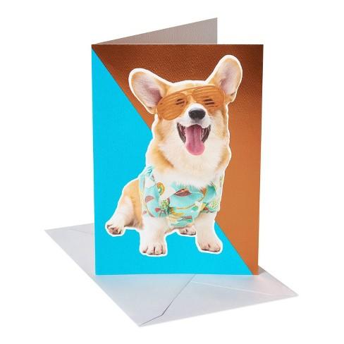 Corgi with Sunglasses Birthday Card - image 1 of 4