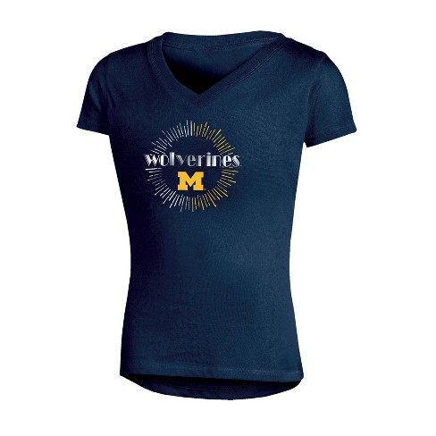 free shipping 8073e 58513 NCAA Girl s V-Neck T-Shirt Michigan Wolverines