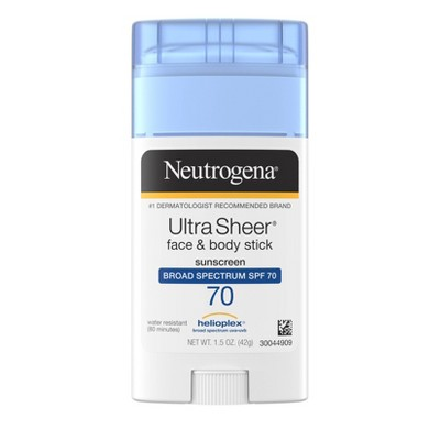 Neutrogena Ultra Sheer Non-Greasy Sunscreen Stick - SPF 70 - 1.5oz