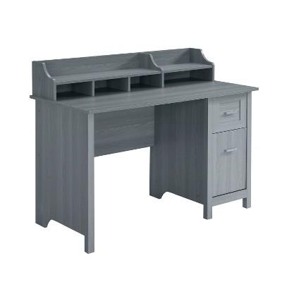 Classic Office Desk with Storage Gray - Techni Mobili