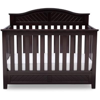 Delta Children Bennington Elite Curved 4-in-1 Convertible Baby Crib - Dark Espresso
