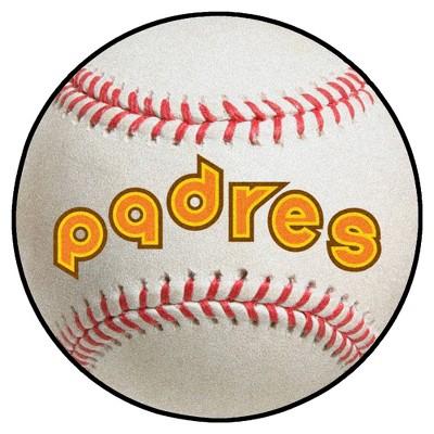 "MLB San Diego Padres 27""x27"" Retro Baseball Mat"