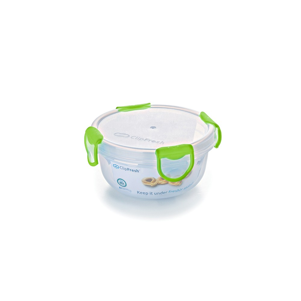 Image of ClipFresh 16oz Set of 6 Food Storage Container Green