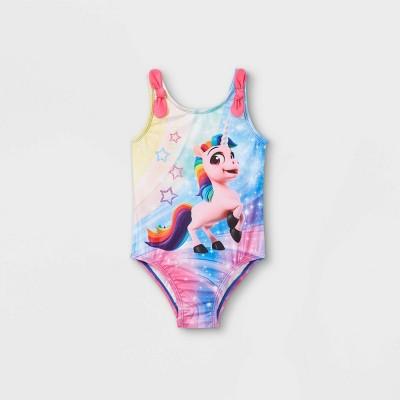 Toddler Girls' Rainbow Rangers One Piece Swimsuit