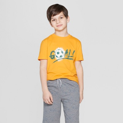 7b318d0dff36 Boys  Soccer Ball Short Sleeve Graphic T-Shirt - Cat   Jack™ Orange