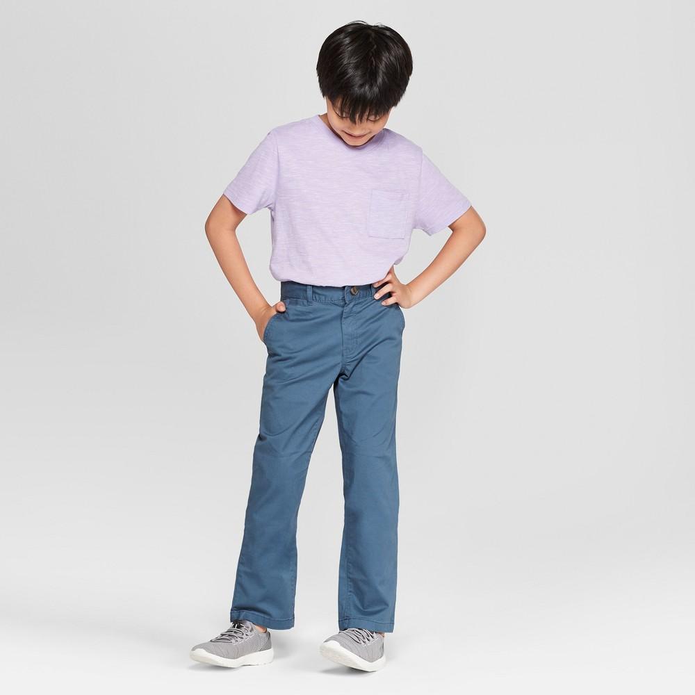 Boys' Chino Pants - Cat & Jack Dark Blue 12 Husky