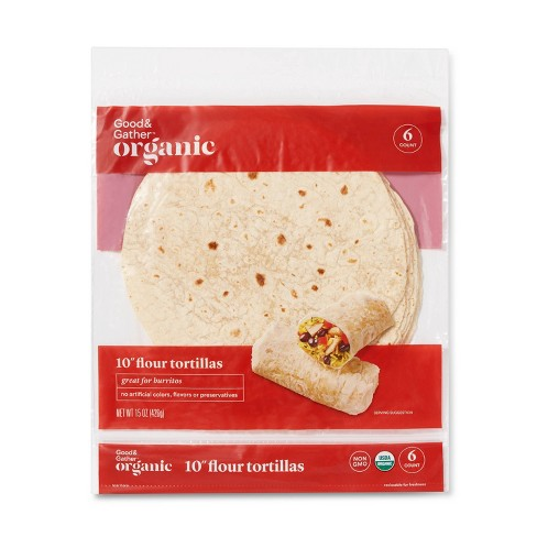 "Organic 10"" Flour Tortillas - 15oz/6ct - Good & Gather™ - image 1 of 2"