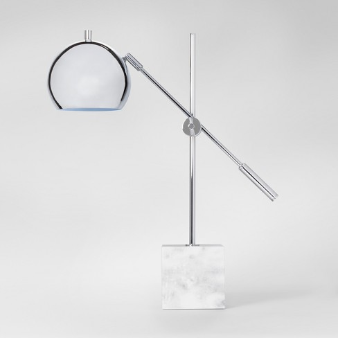 Marble Task Lamp Silver - Project 62™ - image 1 of 2
