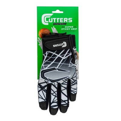 Cutters Game Day Receiver Adult Gloves Black - L