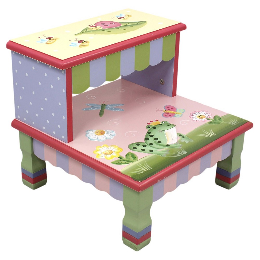 Image of Fantasy Fields Magic Garden Step Stool - Teamson