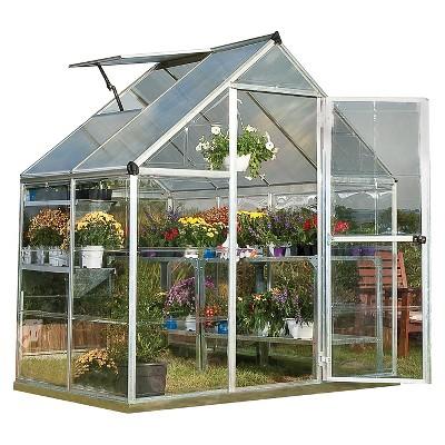 (6' x 4' x 7')Nature Greenhouse - Silver - Palram