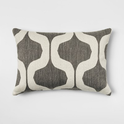 Gray Ogee Lumbar Throw Pillow - Project 62™