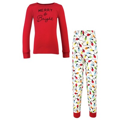 Touched by Nature Baby, Toddler and Kids Unisex Holiday Pajamas, Kids Merry and Bright