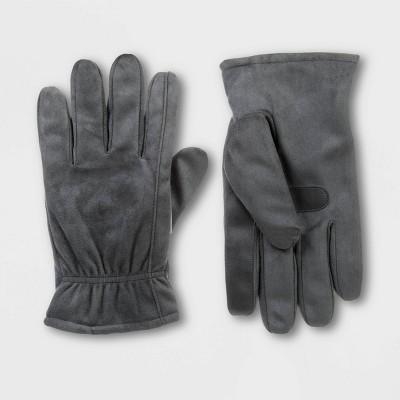 Isotoner Men's Microsuede Gloves - Gray