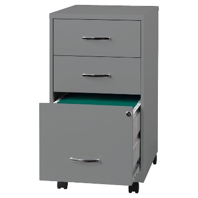 Vertical Filing Cabinet Clear Metal 3 Number Of Drawers Hirsh