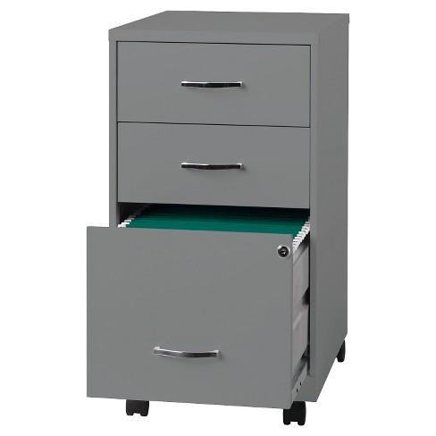 Vertical Filing Cabinet Clear Metal 3 Number Of Drawers Hirsh Target