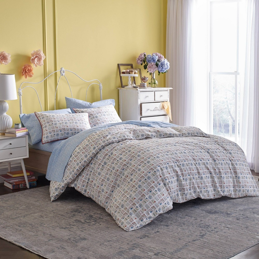 Full Queen Lady Pepperell Eloise 3pc Comforter Set Floral