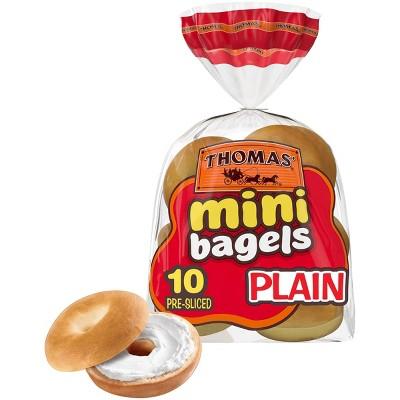 Thomas' Plain Mini Bagels - 15oz/10ct