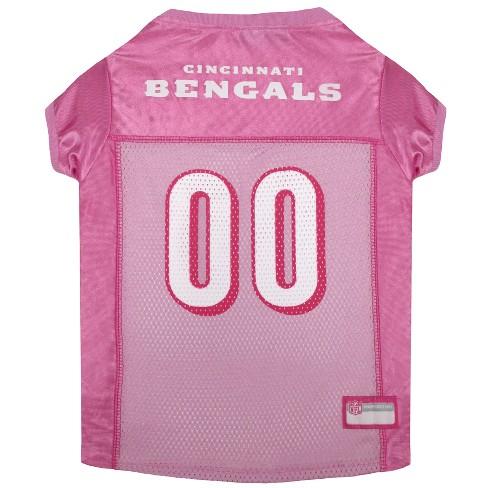 NFL Cincinnati Bengals Pets First Pink Pet Football Jersey - Pink L