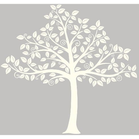 WallPops!® Silhouette Tree Wall Art Kit - Ivory - image 1 of 3