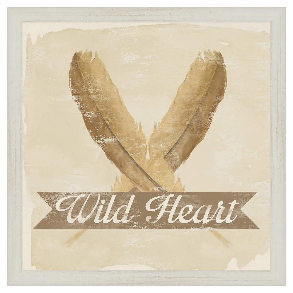 Wild Heart 18X18 Wall Art, Multi-Colored