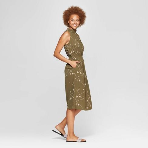 e30a48178a83b Women s Sleeveless Mock Turtleneck Midi Dress - Prologue™ Green XS ...
