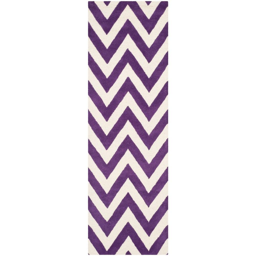Dalton Textured Rug - Purple / Ivory (2'6 X 8') - Safavieh, Purple/Ivory