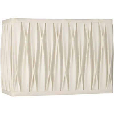 Springcrest White Pinched Pleat Rectangle Shade 14/7x14/7x10 (Spider)