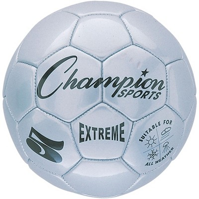 Extreme Series Size 5 Soccer Ball, Silver